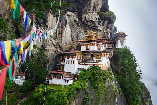 Bhutan rock monastery