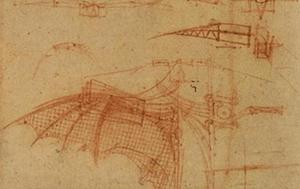 Famous Italians: Leonardo da Vinci's Flying Machine -image by DrawingsofLeonardo.org