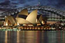 Australia Harbour Bridge in Sydney after Sunset - scr50