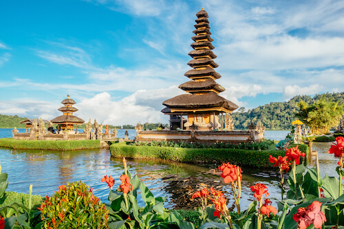 Bali temple in Indonesia