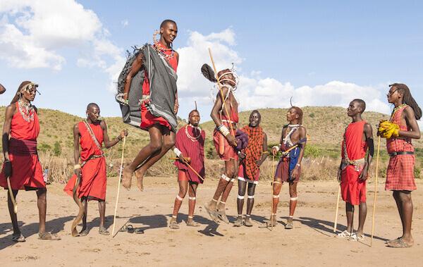 Kenya Masai jumping - image by iSelena/shutterstock.com