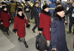 North Korean Athletes arriving in South Korea - image by AP