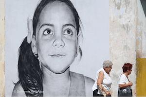 Cuban streetart murals of kids
