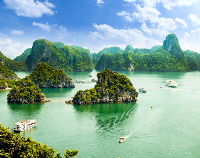 Halong Bay in Vietnam Asia