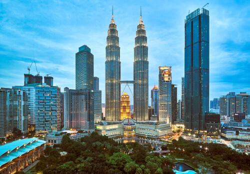 Kuala Lumpur Skyline with Petronas Twin Towers by Andrey Paltsev/shutterstock.com