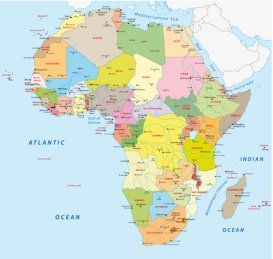 Africa Map - by UNEP