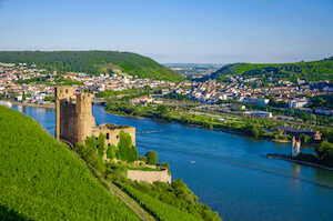 Rhine Valley with Rhine river