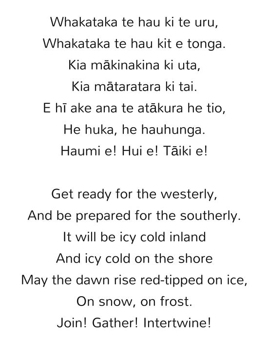 Maori Poem by Matilda Rumble-Smith