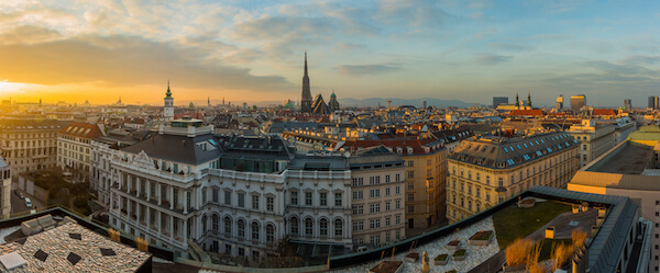 Panoramic view of Vienna - Vienna is Austria's capital city
