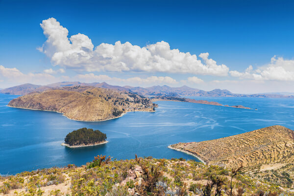 Bolivia Lake Titicaca with Isla del Sol