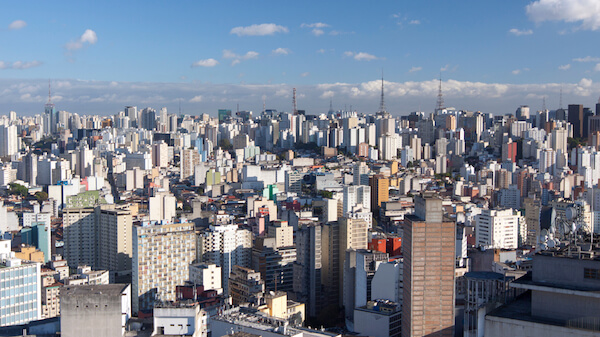 Brazil Facts: The skyline of Sao Paulo, the most populous city of Brazil