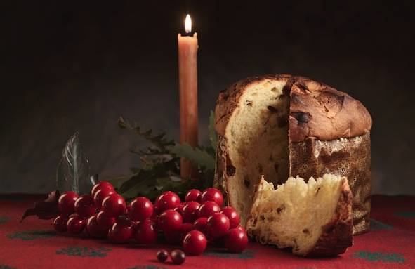 Typical Italian Panettone