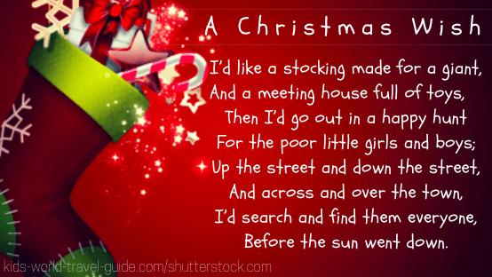christmas: poems for kids: a Christmas wish