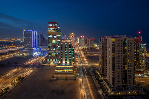 Doha by night - image by Hasan Zaidi