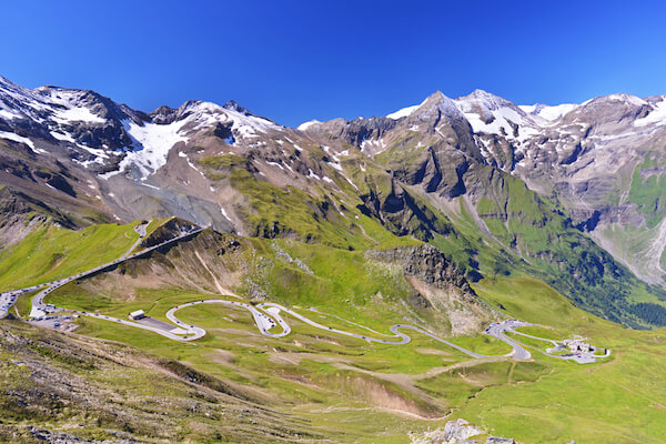 Grossglockner alpine road with hairpin curves - image by Jiri Foltyn/Shutterstock.com