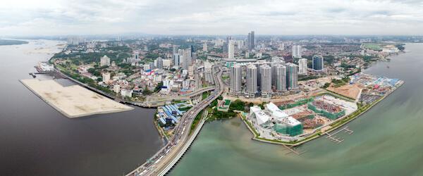 Aerial view of Johor Bahru