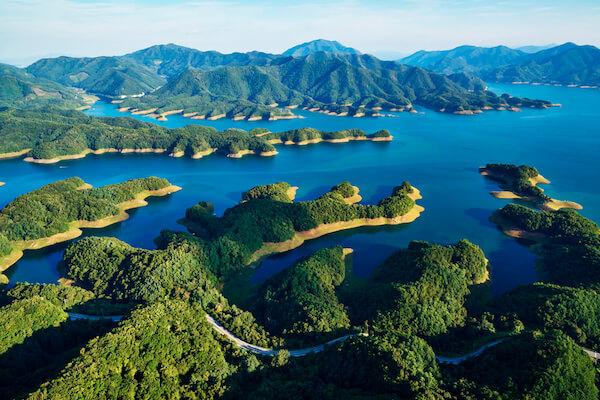 Chungju Lake in South Korea - aerial view