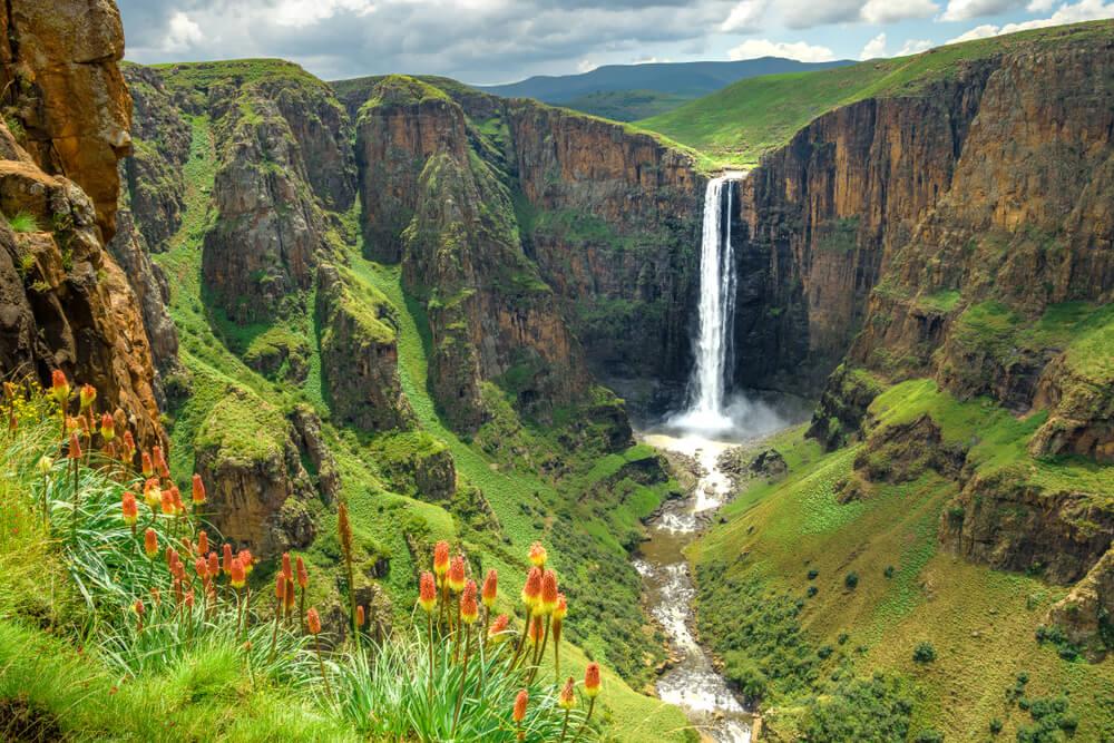 Maletsunyane Waterfall in Lesotho