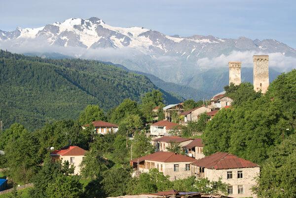 Svaneti mountainscape in the Caucasus region