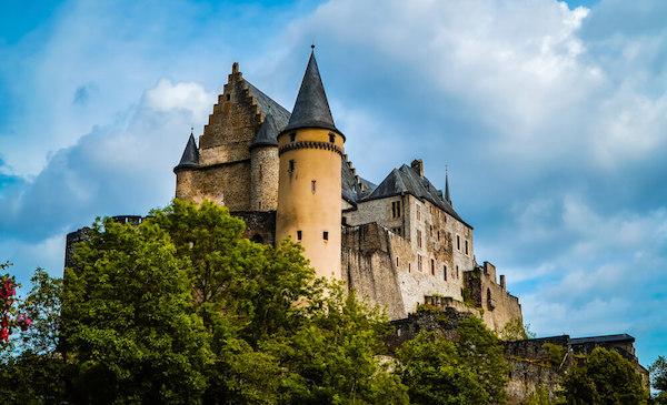 Vianden Castle in Luxembourg - image by JackKPhoto/shutterstock