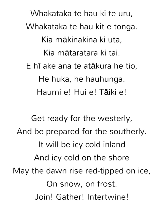 Maori Poem by Matilda Rumble-Smith
