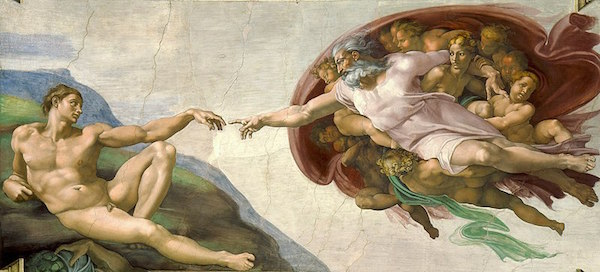 Michelangelo's Creation of Adam - image by Alonso Mendoza/Wikimedia