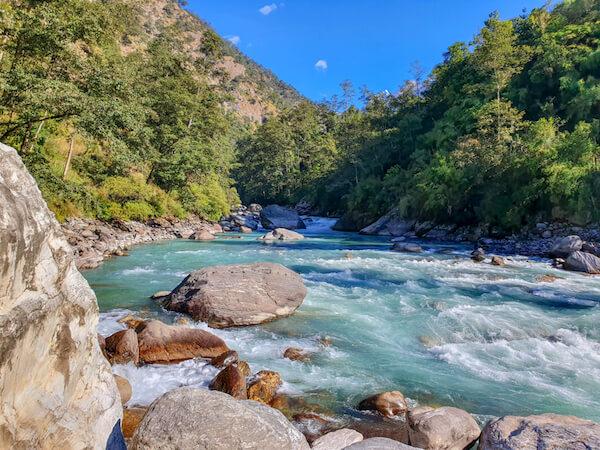 Kochi river in Nepal