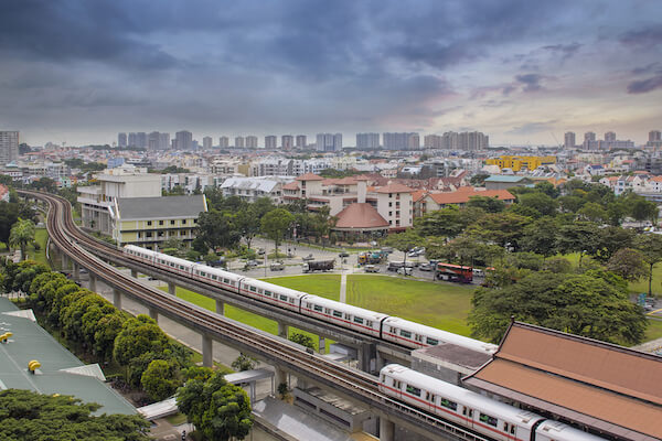 Singapore Mass Rapid Transport connects the whole city
