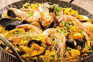 Spain Food - Paella, typical Spanish dish