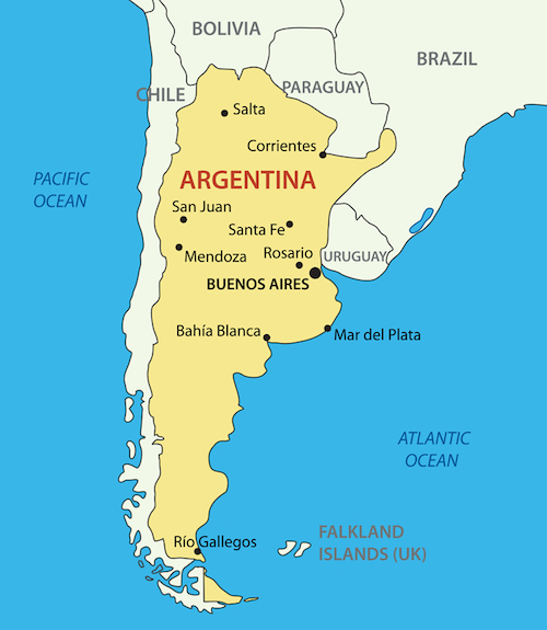 Argentina Facts for Kids Geography Attractions People – Tourist Map of Argentina