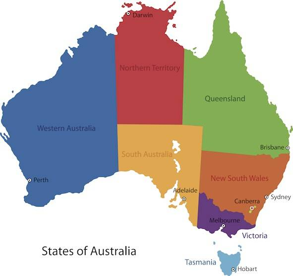Australia Map With Capital Cities.Australia Facts For Kids Facts For Kids Geography Animals