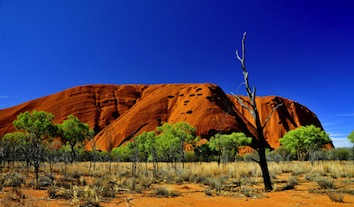 Uluru or Ayers Rock in Australia