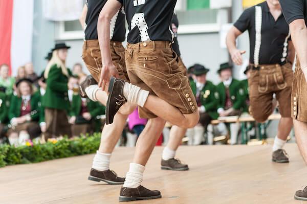 Typical Austrian Schuhplattler dance