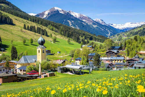 Austria Facts: Saalbach is among the most popular tourist towns in Austria