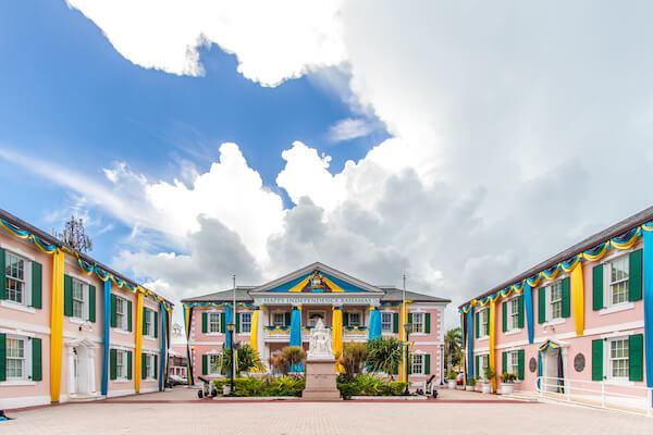 Parliament house in Nassau/Bahamas