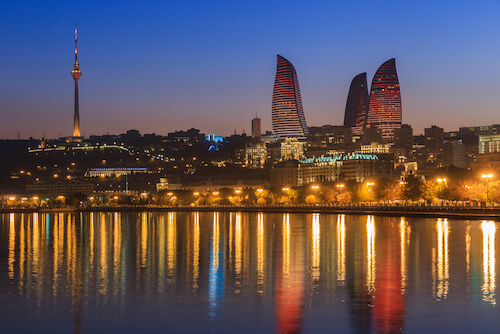 Baku at the Caspian Sea - shutterstock image