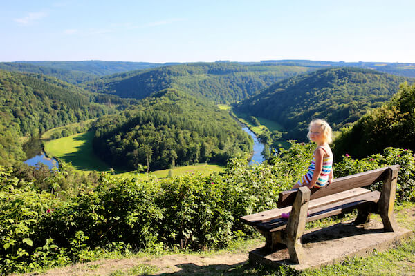 Panoramic views near Bouillon in the Ardennes/Belgium