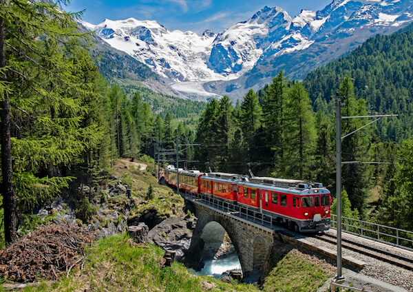 Bernina Express in Switzerland