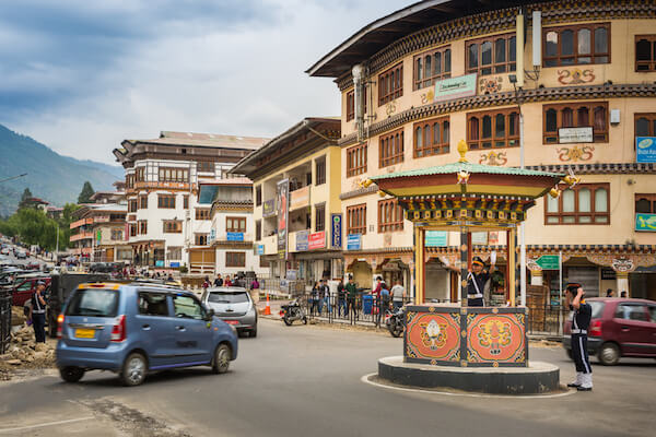 Bhutan Thimphu Police officer, the Human Traffic Light - image by Nutkerdphoksap/shutterstock.com