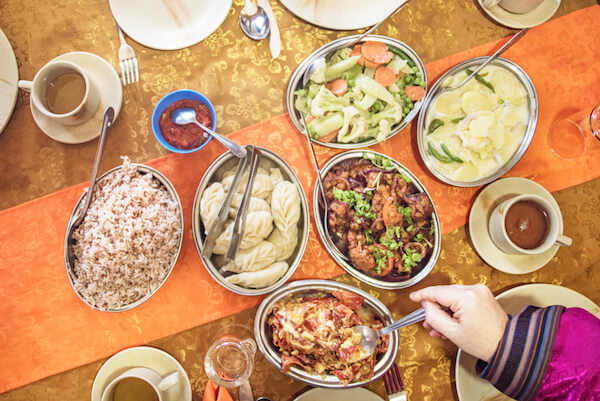 Bhutan food: Variety of Bhutanese dishes - image by Shutterstock