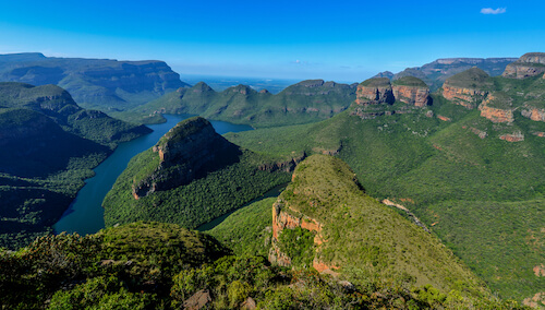 Blyde River Canyon and the Three Rondavels in South Africa - aerial