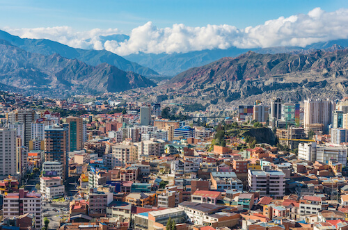 La Paz, capital city of Bolivia