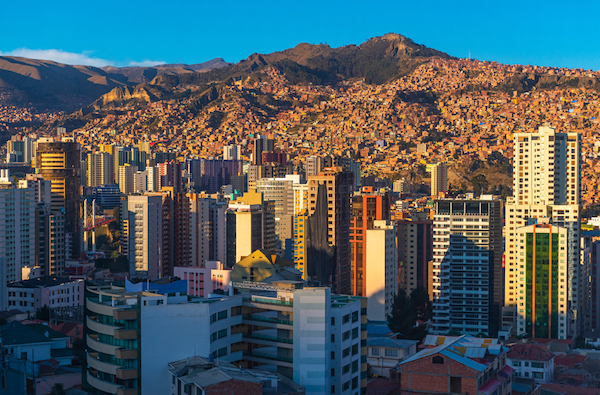 La Paz in Bolivia is the highest capital city in the world
