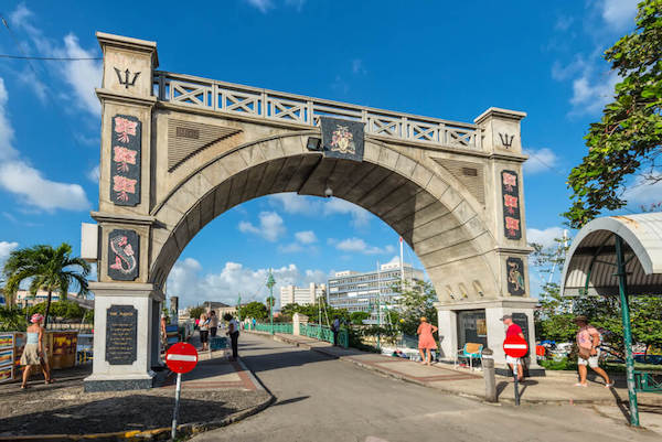 Bridgetown Independence Gate - image by Byvalet/shutterstock.com