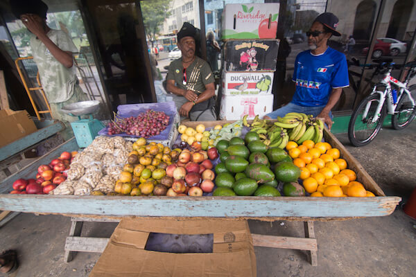 Barbados Bridgetown fresh fruits at market - image by Ana del Castillo
