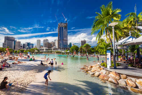 Brisbane South Bank Parklands Beach - image:  Martin Valigursky/Shutterstock.com