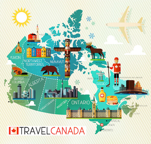 Canada Map for Kids - from shutterstock