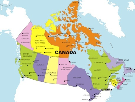 Canada On Map Of The World.Canada Facts For Kids Facts About Canada Family Travel Geography