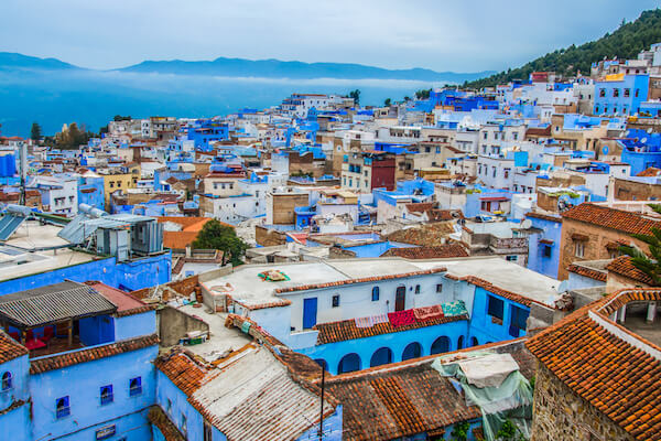 Chefchaouen is known as the Blue City in Morocco