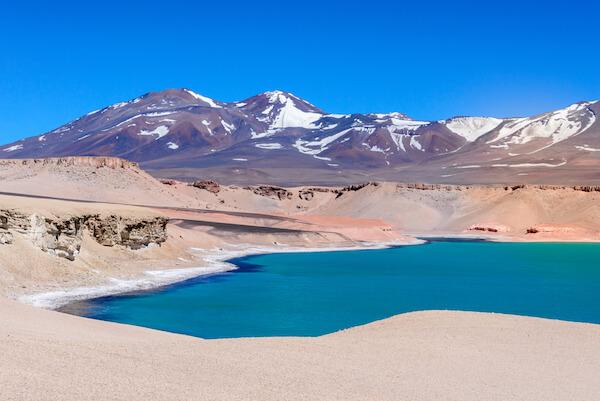Chile's Laguna Verde, green lagoon